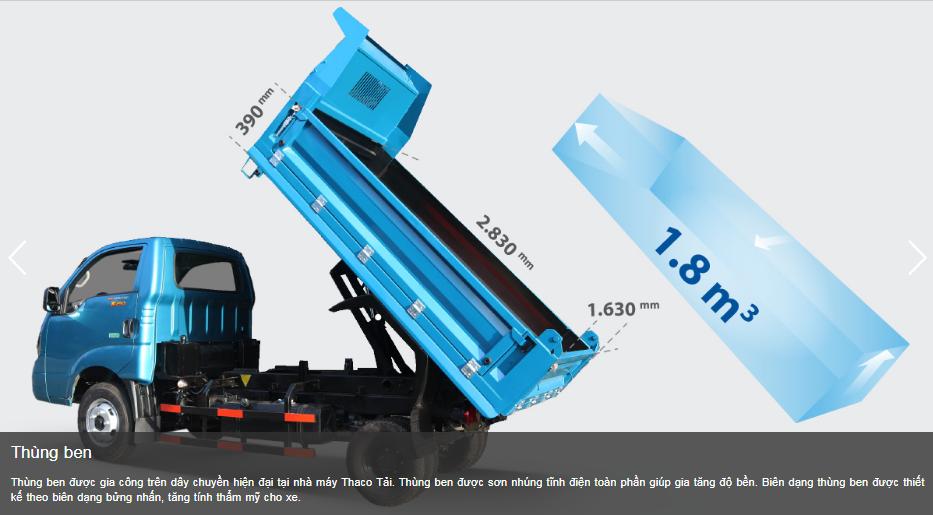 k250b-10 Xe ben KIA K250B - 2 khối 2 tấn vào thành phố mới 2020