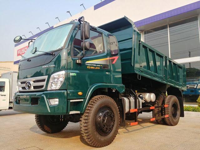 Xe ben 2 cầu dầu nhông truyền - Thaco Forland FD140 4WD 7.6 tấn 6.5 khối